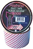 Fashion Mode Brand Candy Cane Printed Duct Tape, 2 Inch by 10 Feet, Single Roll
