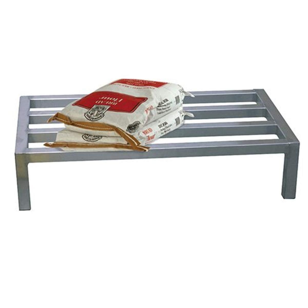 Focus Foodservice FHADR481812 Heavy Duty Dunnage Rack, 48 x 18 x 12 , 2500 lbs Capacity, 4 Support Bars