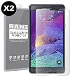 [2 Pack] Galaxy Note 4 Screen Protector, RANZ Tempered Glass Premium High Definition