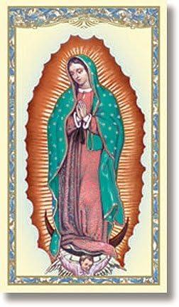 Virgen de Guadalupe- Tarjetas de Oración/Estampitas en Español con Novena a Nuestra Señora de Guadalupe - (Pack 10 unidades) Our Lady of Guadalupe ...