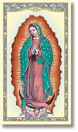 Virgen de Guadalupe- Tarjetas de Oración/Estampitas en Español con Novena a Nuestra Señora de Guadalupe - (Pack 10 unidades) Our Lady of Guadalupe Prayer Card in Spanish (10 Pack) ()