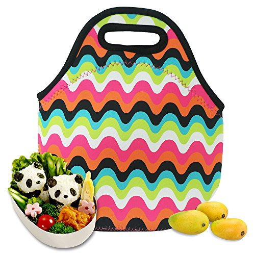 Castle Story Neoprene Lunch Bag Waterproof Picnic Tote,Washable and Insulated Fresh and Fit Gourmet Lunch Boxes Container For Kids Men Women Boys Girls with Two ways to handle,Lovely Lunch - Use A To Wetsuit How