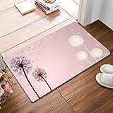 Entry Door Entry Foot Dandelion Flower Anti-Slip mat Bathroom Floor Bedroom Living Room (Color : Purple, Size : 40 * 60cm)