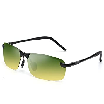 Pequeño árbol Polarizador de los hombres gafas de sol de día y de noche antideslumbrante conducción