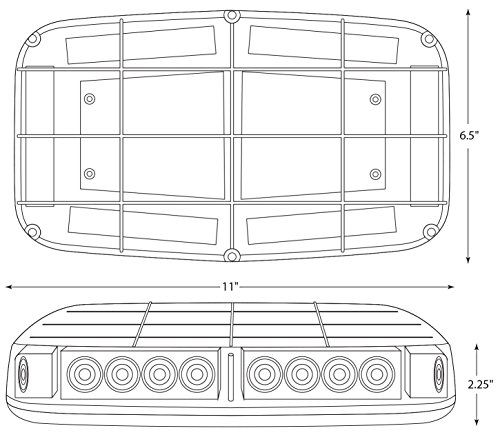 Blazer C4855AW LED Warning Light Bar with Magnetic Base, Amber by Blazer International Trailer & Towing Accessories (Image #5)