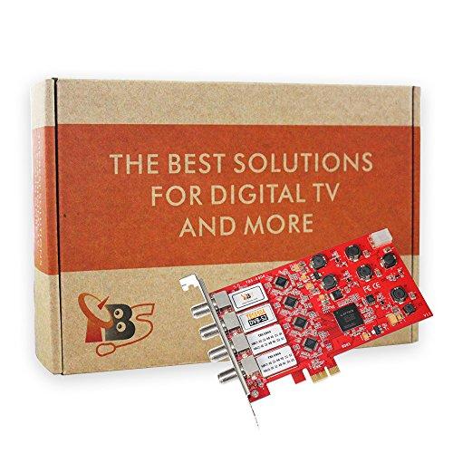 TBS DVB-S2 / S Quad Tuner PCIe Card for Satellite Live TV (Satellite Tv Card)