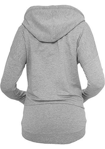 Urban Classics Ladies Long Zip Hoody Gris