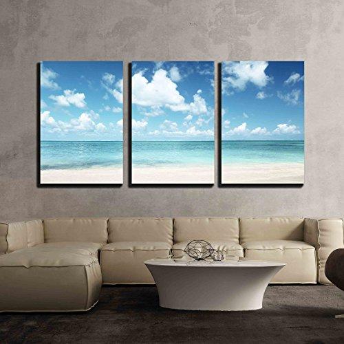 Sand of Beach Caribbean Sea x3 Panels