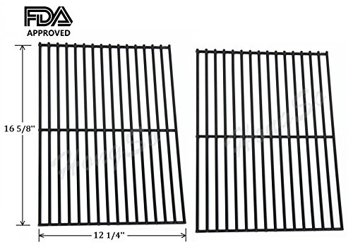 Hongso PCB932 Porcelain Steel Centro, Charbroil, Front Avenue, Fiesta, Kenmore, Kirkland, Kmart, Master Chef, and Thermos Gas Grill Cooking Grid/Cooking Grates Replacement, Sold As A Set of 2