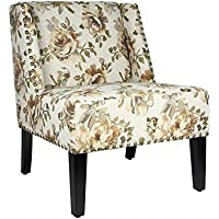 Joveco Printed Fabric Nail head Trim Leisure Chair