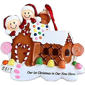 our 1st christmas in new home personalized christmas ornament family of 2 2017