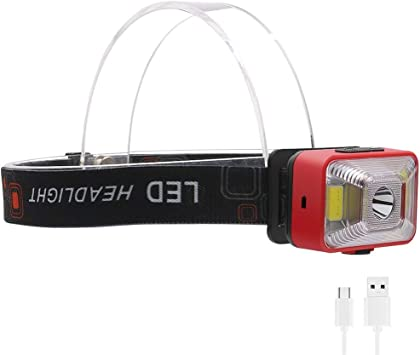 Linterna frontal para bicicleta, 10 unidades, recargable, USB, con ...