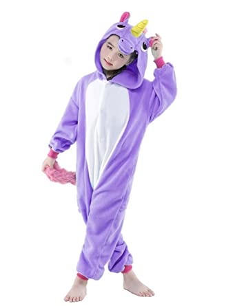 Kid Animal Pajamas Cosplay Onesie Kigurumi Unicorn Pyjamas Sleepwear Costume