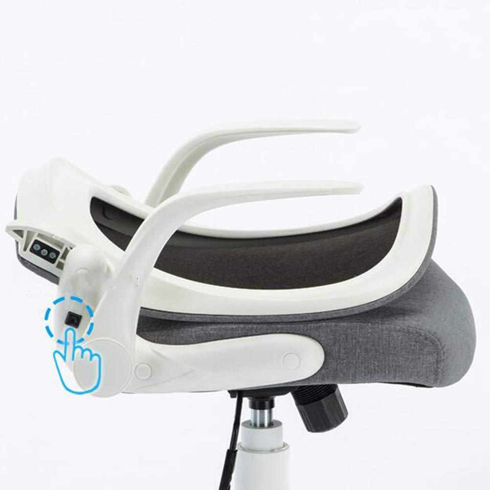 WYYY stolar kontorsstol, svängbar skrivbordsstol justerbar sitthöjd datorstol studierum medium rygg hållbar stark (färg: svart) Grått