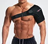 Flex-Health Shoulder Support Brace Compression | Rotator Cuff Support for Injury Prevention, Dislocated AC Joint, Labrum Tear, Frozen Shoulder Pain, Sprain, Soreness, Bursitis