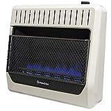 ProCom MG30TBF Ventless Dual Fuel Blue Flame Wall Heater Thermostat Control - 30,000 BTU, White