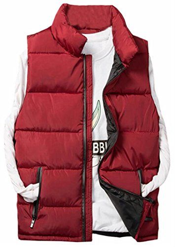 Brd Hot Performance Puffer Vest Quilted Zip Suede Thickening 2 UK Up Men's d1ap1FnB