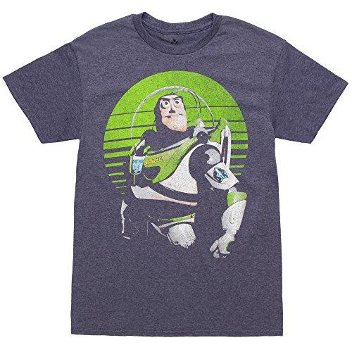 Fifth Sun Men's Buzz Lightyear Sight on Stars T-Shirt (XXXL, Navy Heather) ()