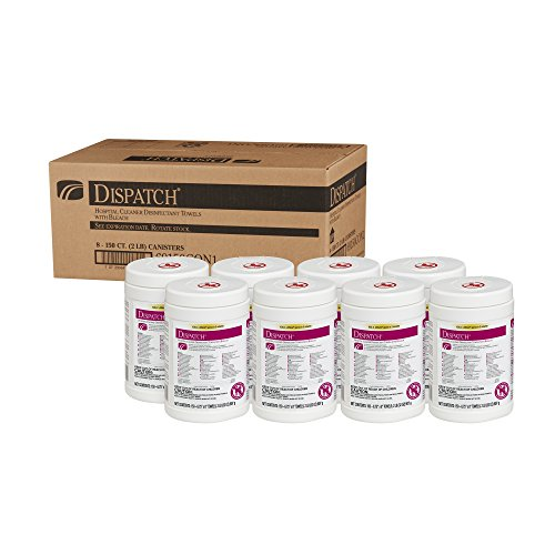 Dispatch Hospital Cleaner Disinfectant Towels with Bleach, 150 Count Canister, 8 Canisters/Case by Clorox (Image #1)