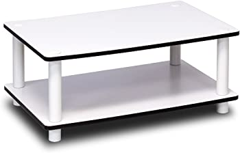 Furinno Just 2-Tier No Tools Coffee Table (White)