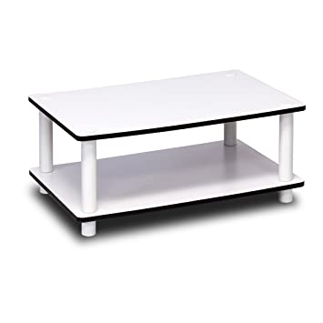 Amazoncom Furinno 11172 Just 2Tier No Tools Coffee Table White