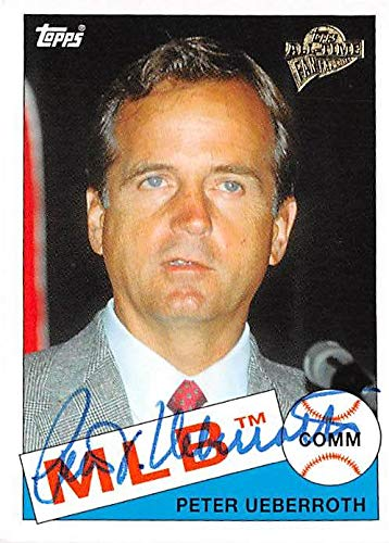 Peter Ueberroth autographed baseball card 2004 Topps Fan Favorites #133 Commissioner