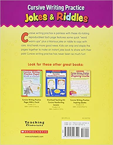 Cursive Writing Practice: Jokes & Riddles: Violet Findley ...