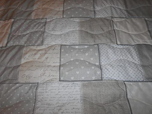 chocolate 220x240 cm XXL Colcha multiusos aproximadamente 220/X 240/Patchwork ca terra lila Vintage Beige manta para sof/á estilo r/ústico colcha beige microfibra