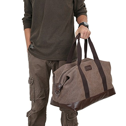 color For Travel Crossbody Casual Work Purse Business Messenger Canvas Bag Man Shoulder Unisex Khaki Coffee Men's Bags Wenjack RwqC7C