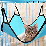 Chige Multifunction Comfortable Cute Animal Hammock Sleep Bed Pad Hanging Pet Cage for Cats,Rabbit,Rat,Small Dogs,Pack of 1pc,4 Optional Color (Light blue)