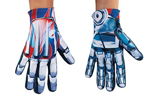 Prime Transformer Costumes Optimus (Disguise Optimus Prime Movie Child Gloves, One)