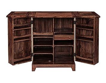 Inhouz INHZ0853(WL) Bar Cabinet (Brown)
