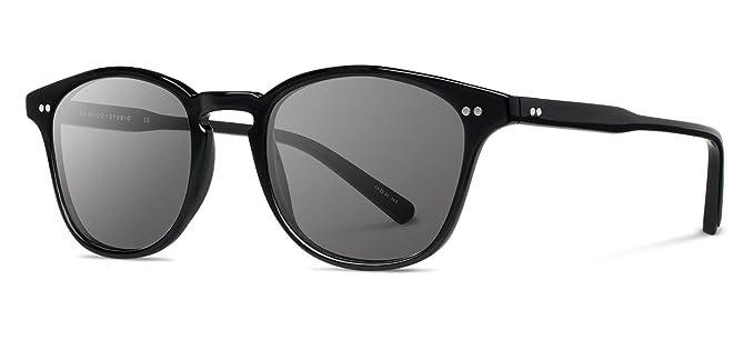 8934a75488 Shwood WAK2BG Black Black Kennedy Square Sunglasses Lens Category 3 Size  50mm