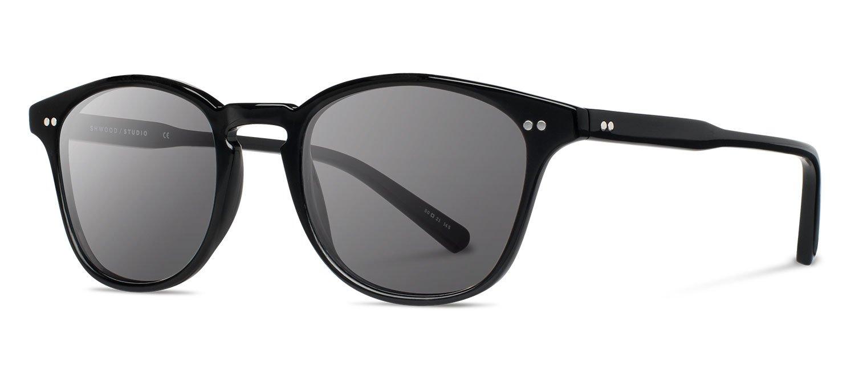 Shwood- Kennedy Acetate, Sustainability Meets Style, Black, Grey Lenses by Shwood