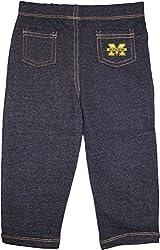 Creative Knitwear University Of Michigan Wolverines Split M Denim Jeans