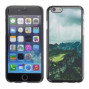 FECELL CITY // Duro Aluminio Pegatina PC Caso decorativo Funda Carcasa de Protección para Apple Iphone 6 // Grey Canyon Summer Clouds