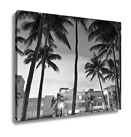 Ashley Canvas Miami Beach South Sunset In Ocean Drive Florida Art Deco Wall