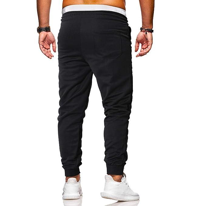 Pantalones para hombre, casuales, para correr, chino, con cinta de ...