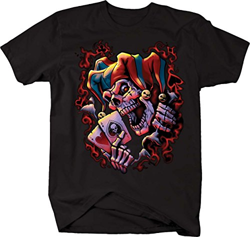 Wicked Jester Playing Poker Aces T shirt - -