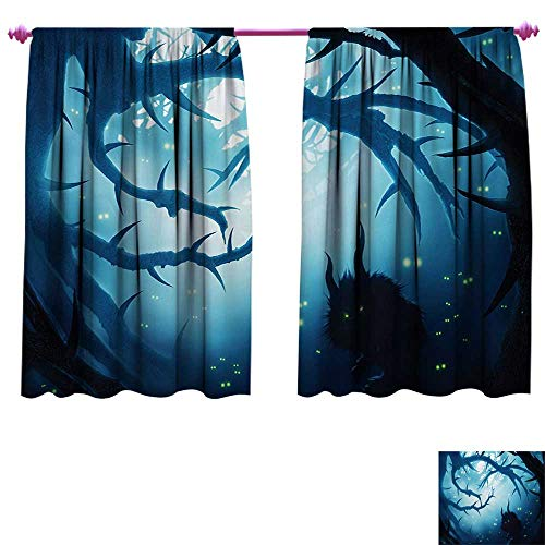 cobeDecor Mystic Drapes for Living Room Animal with