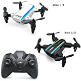 Mini Quadcopter,ToyPark H345 Mini Dual-Aircraft Combination Micro Foldable RC Drone Quadcopter with 2 Set JJRCI White & JJRCII Black