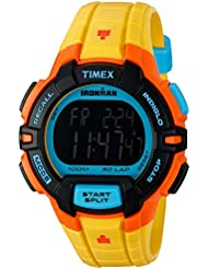 Timex Mens TW5M02300 Ironman Rugged 30 Yellow Color Block Resin Strap Watch