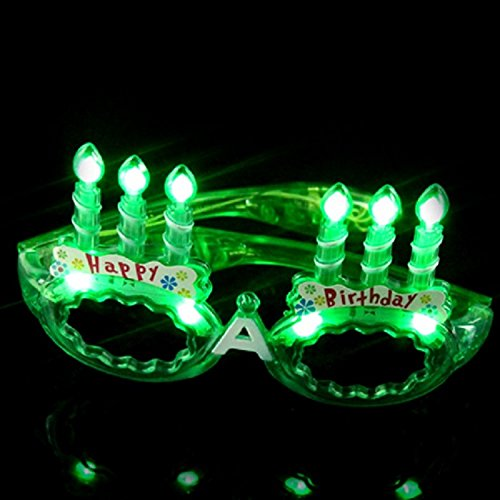 LED Flashing Light Up Happy Birthday Cake Party Glasses Shades - Sunglasses Birthday