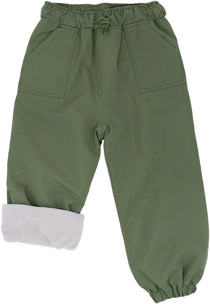 JAN /& JUL Kids Waterproof Fleece-Lined Rain Pants