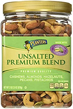 Planters Premium Blend Unsalted Mixed Nuts, 34.5 Ounce Jar