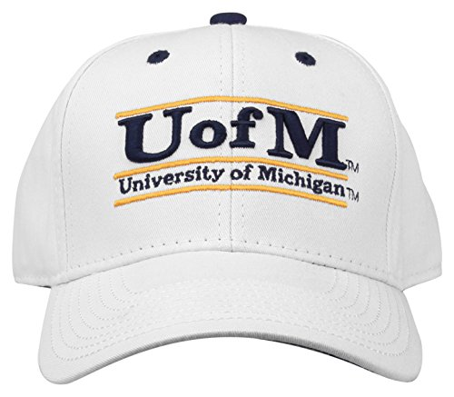 The Game NCAA Michigan Wolverines Unisex Bar Design Hat, White, -