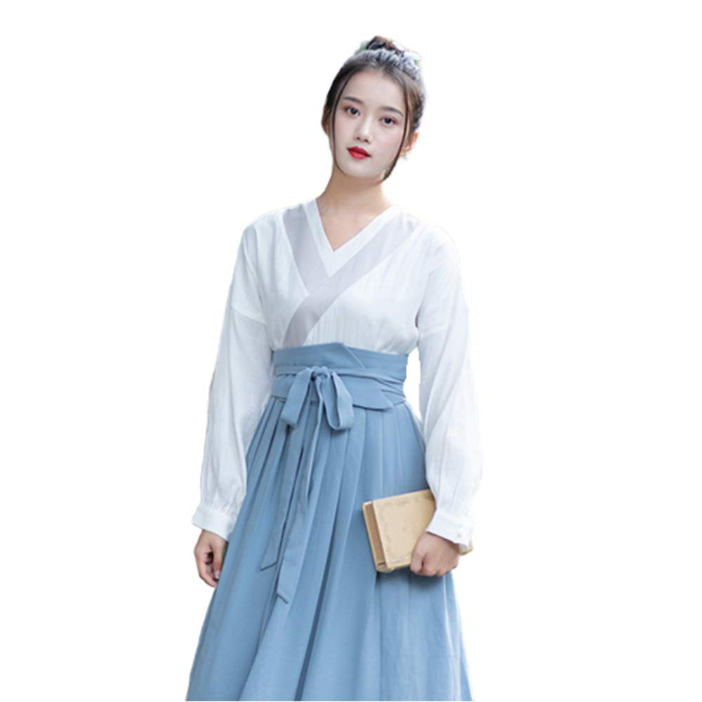 WJX Girl's Dress,Women's Chinese Style Clothes,Tang Suit Printing National Traditional Retro Hanfu Long Sleeve Cosplay Performances Costume