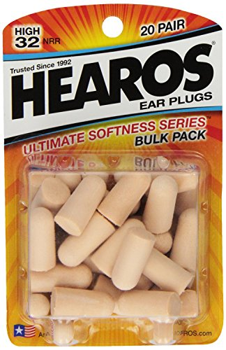 Hearos Ultimate Softness Series Foam Earplugs, 40 Count