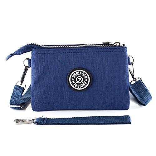 519f1658f89f Ladies Wrist Handbag Wristlet Shoulder Bag Girls Water Resistant Nylon  Multipurpose Phone Purse 3 Layers 2