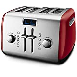 KitchenAid KMT422ER 4-Slice Toaster with Manual High-Lift Lever and Digital Display - Empire Red